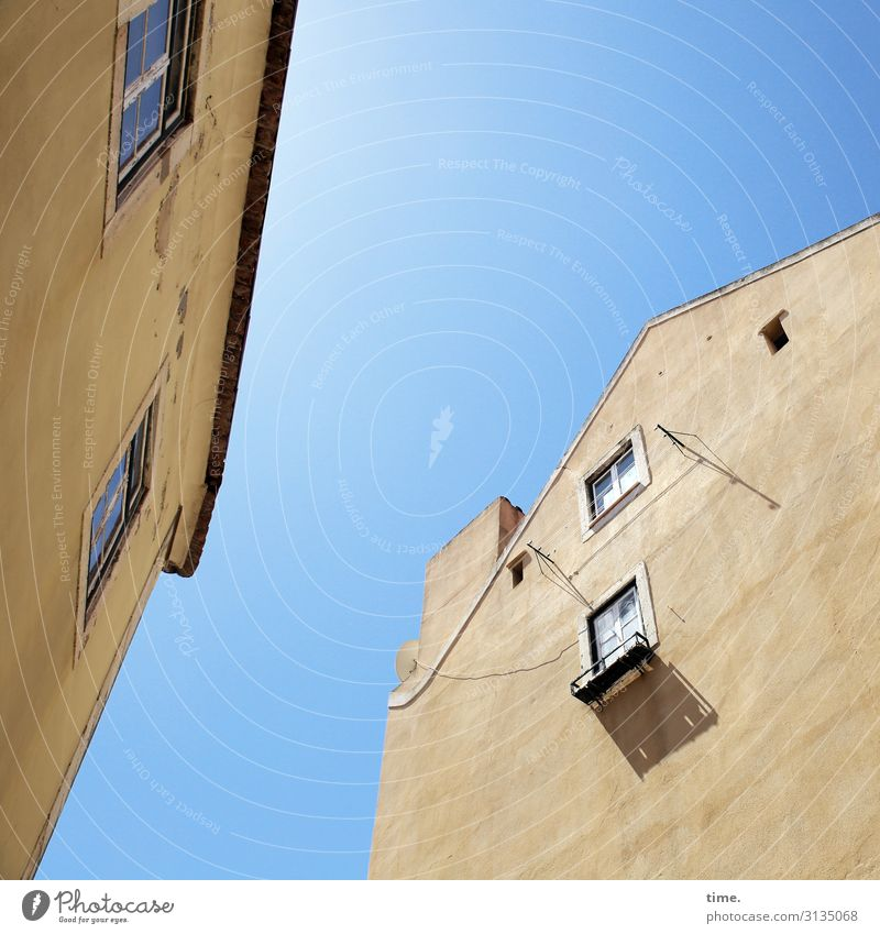 Sky Town House (Residential Structure) Window Architecture Life Yellow Wall (building) Time Wall (barrier) Together Facade Moody Design Bright Communicate