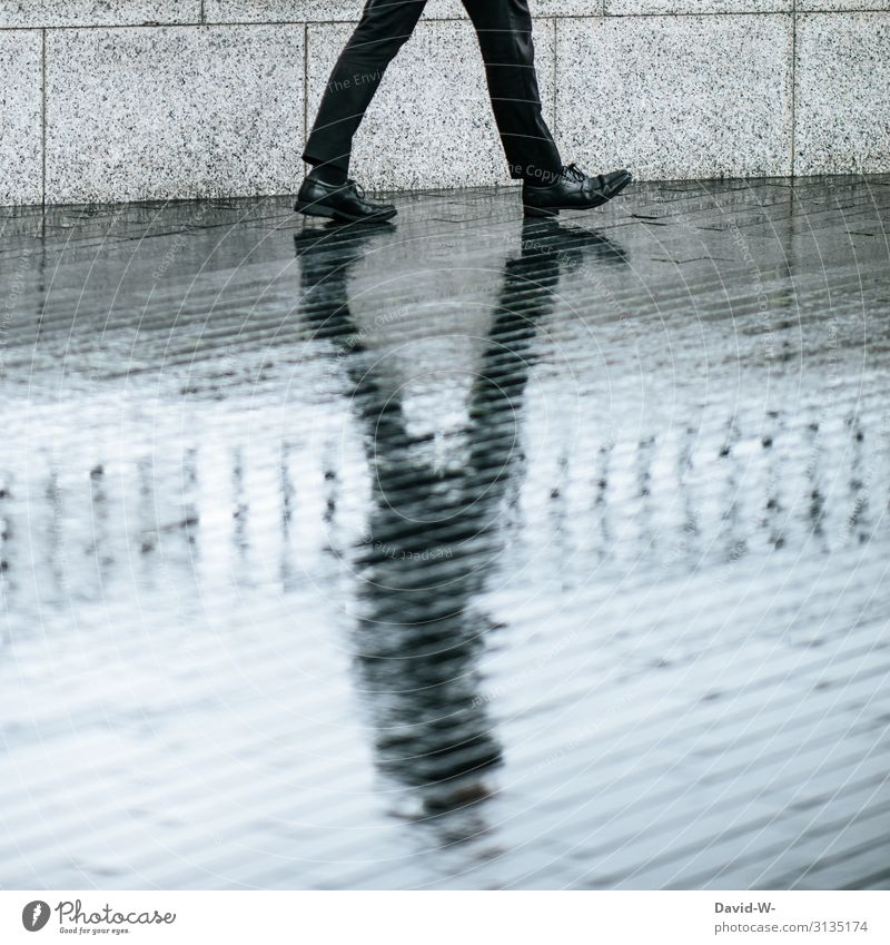 Man walks with shadow Businessman Commercial Shadow Shadow play Dark side Shadowy existence shadow cast shadow man Contrast especially somber Black reflection