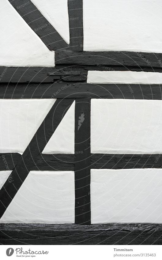 dead | but now a supporting role Wood lines Function Black White half-timbered Old Plaster