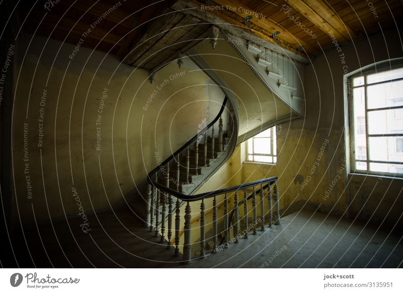 2ND FLOOR Architecture Art nouveau Town house (City: Block of flats) Wall (building) Stairs Staircase (Hallway) Story Wood Authentic Historic Elegant Past