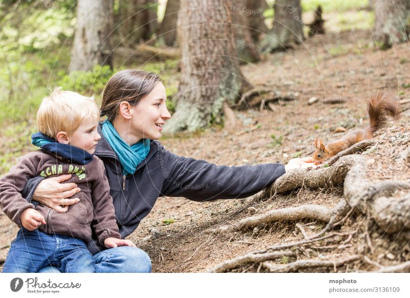 Feeding squirrels #4 Vacation & Travel Trip Child Human being Masculine Feminine Toddler Boy (child) Woman Adults Mother Family & Relations Infancy Hand 2