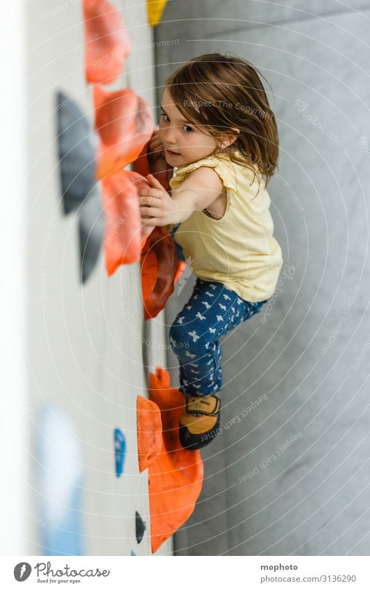 Long way to go Lifestyle Face Healthy Athletic Fitness Sports Climbing Mountaineering Bouldering Parenting Child Feminine Toddler Girl Infancy 1 Human being