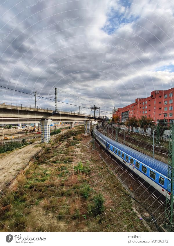 traffic routes Capital city Deserted House (Residential Structure) High-rise Bridge Traffic infrastructure Rail transport Train travel Railroad Passenger train