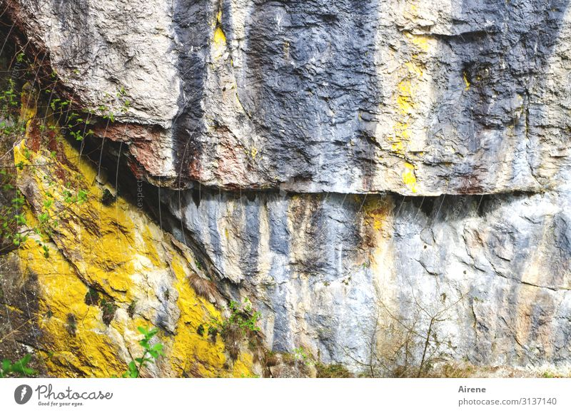 coloured stones Rock Alps Sharp-edged Gigantic Large Natural Multicoloured Yellow Gray Power Uniqueness Energy Colour Sustainability Nature Time Destruction