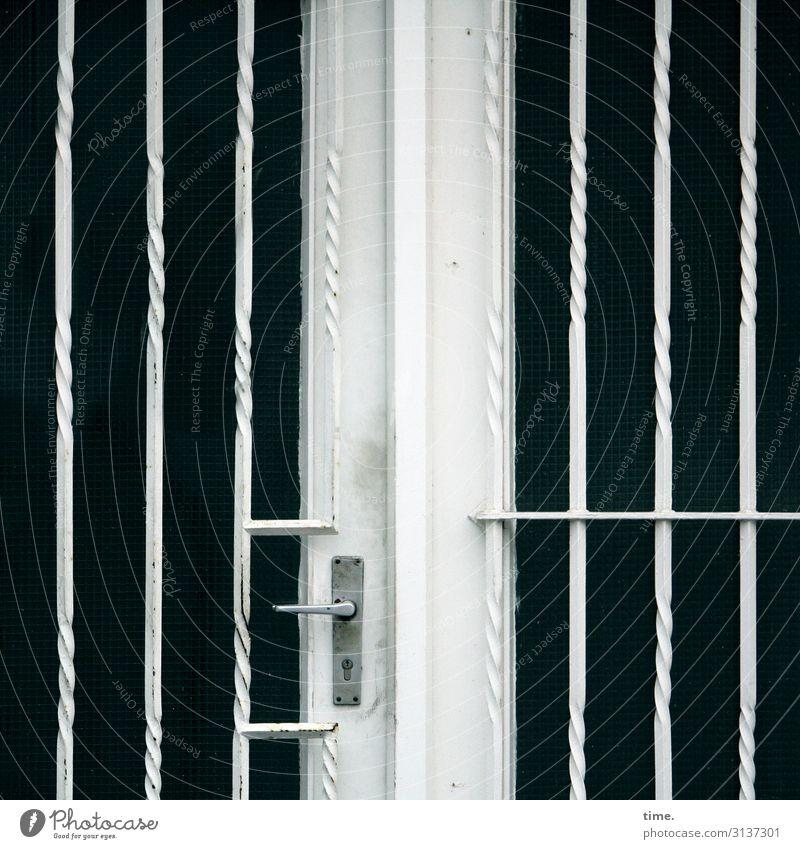 Entrees (16) House (Residential Structure) Door Door handle Grating Glass Metal Line Stripe Threat Dark Sharp-edged Safety Protection Endurance Unwavering
