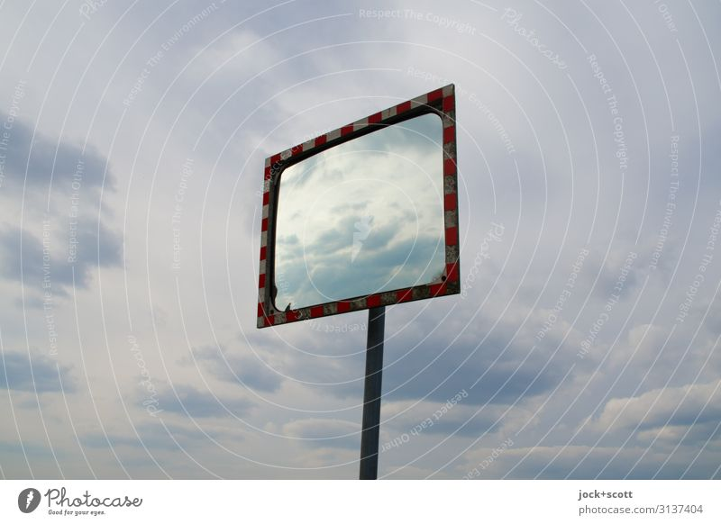 Climate & Convex Sky Clouds Airport Berlin-Tempelhof Road safety Mirror Free Design Horizon Center point Environment Far-off places Equal Freedom Subdued colour