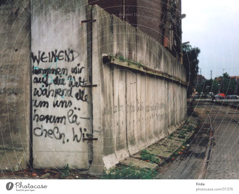 wall wisdom Wall (barrier) Industrial district Loneliness Text Vicinity Architecture Graffiti