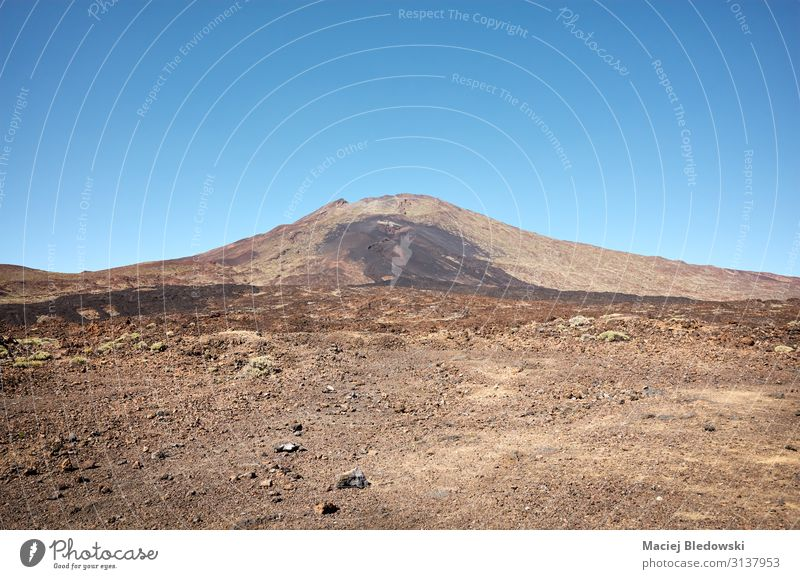 Mount Teide, volcano on Tenerife in the Canary Islands, Spain. Vacation & Travel Tourism Trip Adventure Expedition Summer Mountain Hiking Nature Landscape Sky