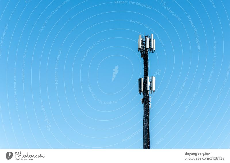 Telecommunication 5G transmitters. GSM antenna Industry Telecommunications Telephone Cellphone Technology Nature Landscape Sky Antenna Metal Blue Green White 5g