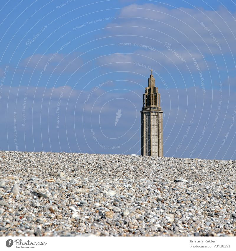pebble beach and st. joseph Vacation & Travel Tourism Beach Coast Le Havre France Port City Deserted Church Building Architecture Facade Tourist Attraction