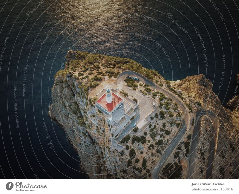 Cap Formentor from the air Vacation & Travel Tourism Sightseeing Landscape Sun Summer Climate Beautiful weather Warmth Drought Rock Canyon Waves Coast Ocean
