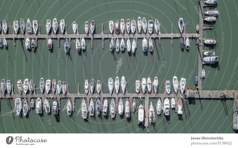 small marina from above Water Beautiful weather Lake River Means of transport Boating trip Fishing boat Sport boats Yacht Motorboat Sailboat Sailing ship