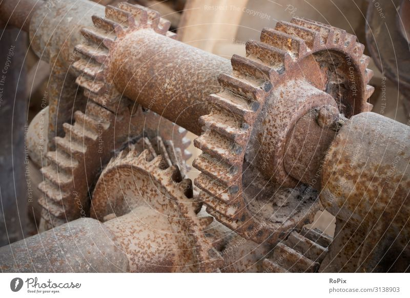 Detail of a historic gearbox. Lifestyle Design Leisure and hobbies Science & Research Work and employment Profession Workplace Factory Economy Agriculture