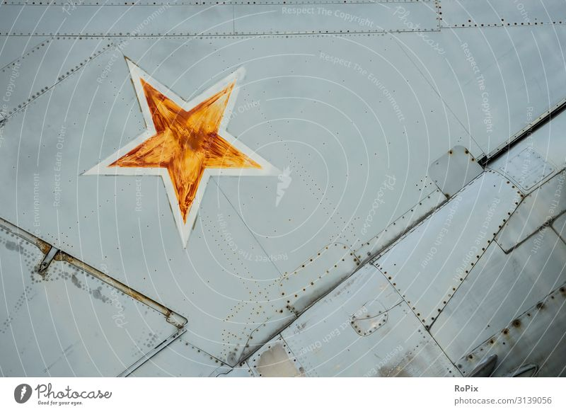 Soviet star on a battle plane. Lifestyle Design Vacation & Travel Tourism Sightseeing Science & Research Work and employment Profession Workplace Industry Trade