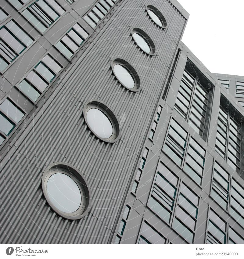 Town House (Residential Structure) Window Architecture Wall (building) Cold Building Wall (barrier) Facade Line Metal Modern High-rise Glass Perspective Tall