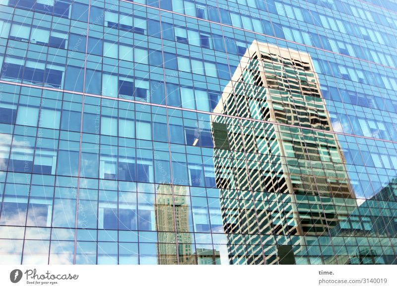 Sky Town Window Architecture Wall (building) Building Wall (barrier) Facade Design Bright Line Modern High-rise Glass Arrangement Creativity