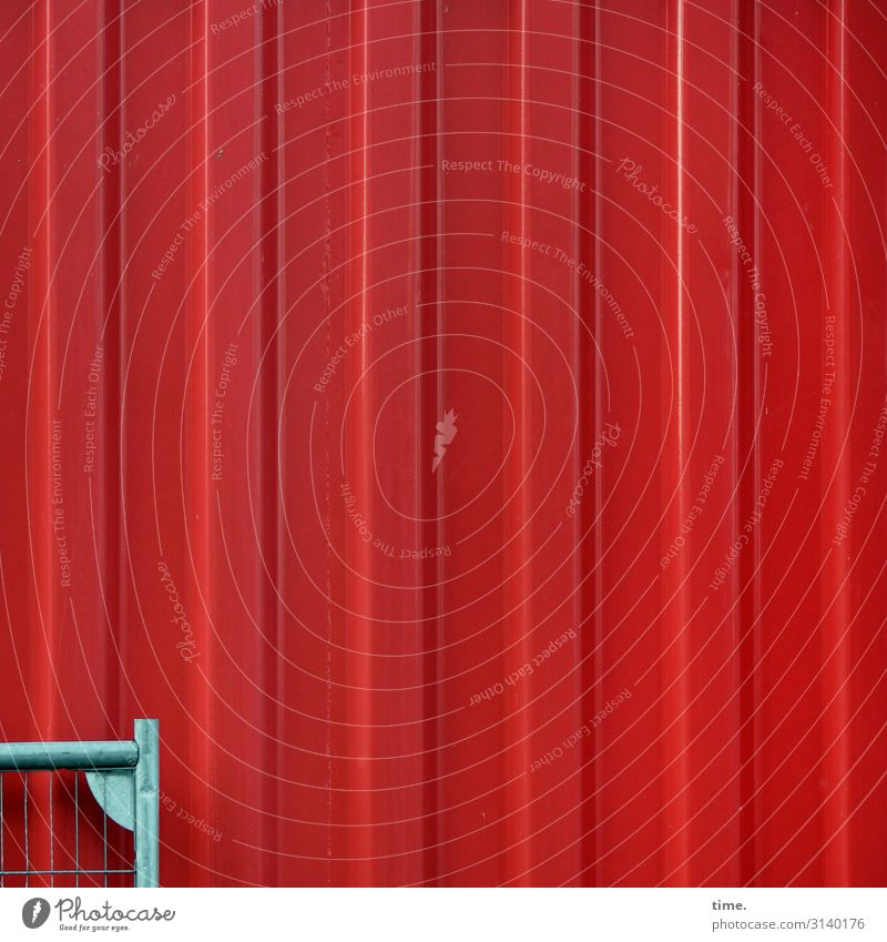 Red Far-off places Wall (building) Time Wall (barrier) Gray Line Metal Communicate Esthetic Discover Stripe Fence Inspiration Steel Sharp-edged