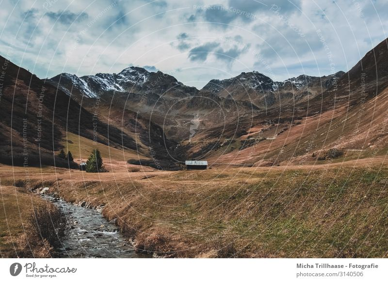 Alpine panorama in autumn Vacation & Travel Tourism Adventure Mountain Hiking Nature Landscape Sky Clouds Autumn Alps Austria Federal State of Tyrol