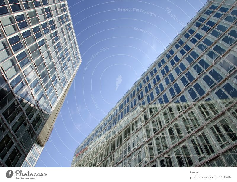 Sky Town House (Residential Structure) Window Architecture Wall (building) Building Wall (barrier) Facade Line Modern Communicate High-rise Glass Perspective