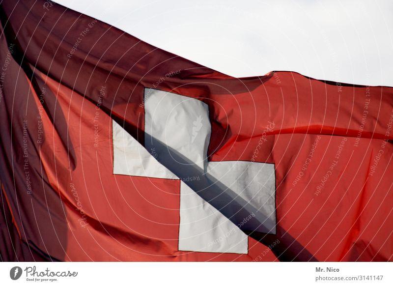 Hopp Schwiiz Sign Red White Confederate Judder Patriotism Blow Swiss flag Flag Ski resort Alps Cloth Square Europe Zurich Zermatt Matterhorn Helvetic Republic