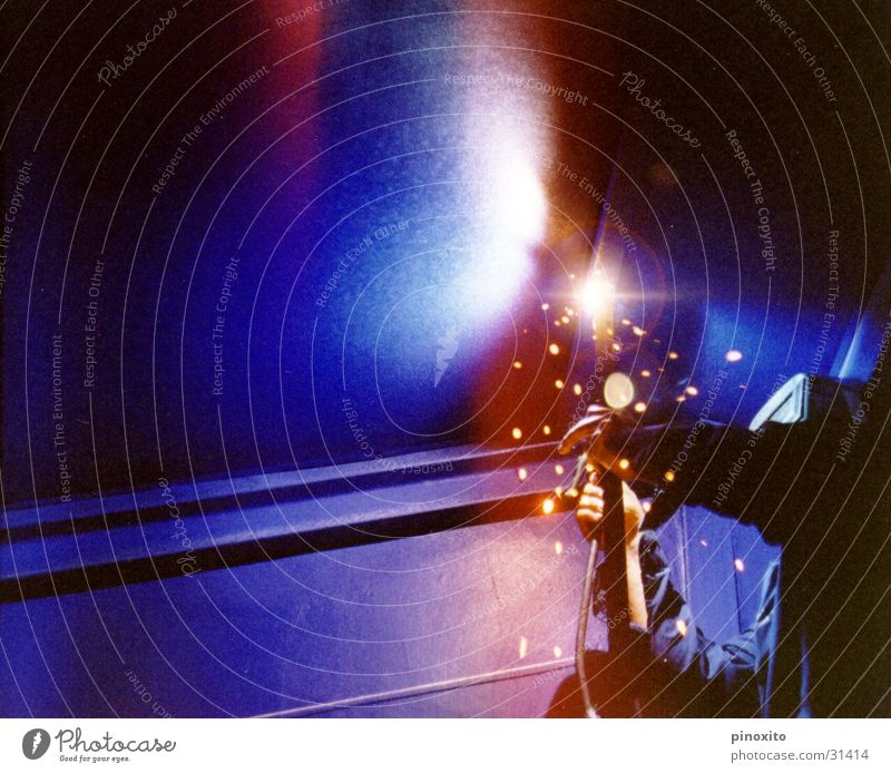cavalry Light Industrial Photography Industry Braze worker blue inside