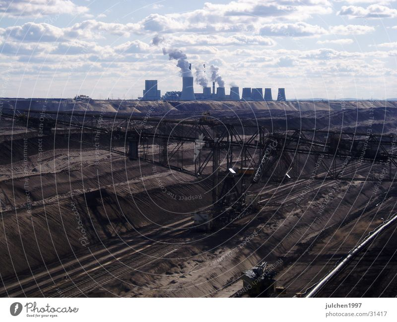 coal landscape Mining Machinery Electricity Industry Energy industry Landscape Sand Electricity generating station Moon Technology Far-off places