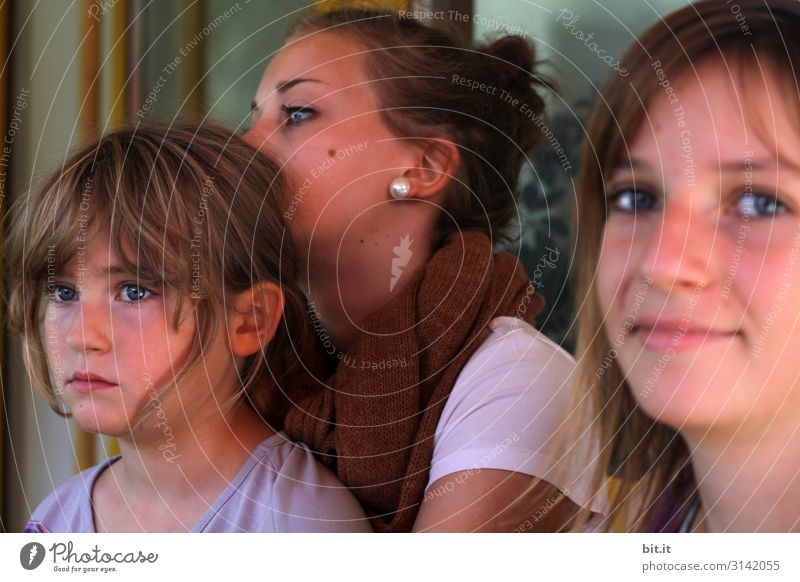 Three Sisters Playing Human being Feminine Child Girl Young woman Youth (Young adults) Brothers and sisters Family & Relations Friendship Infancy Head Looking