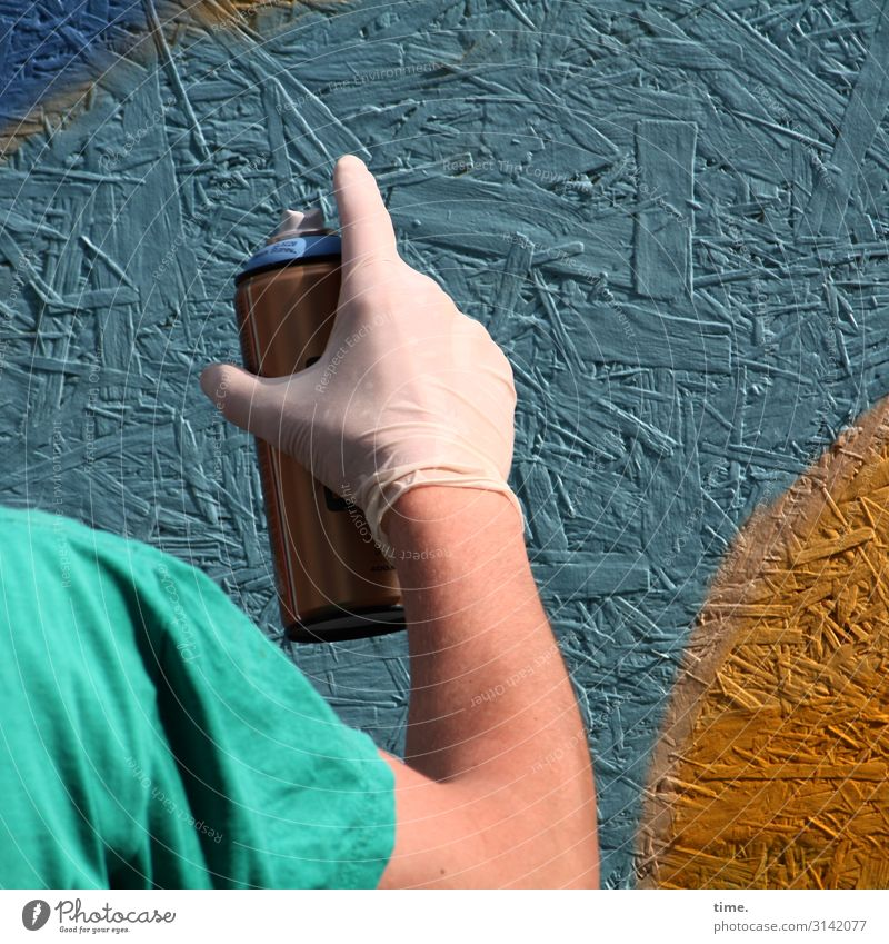 colour up your life (IV) Masculine Man Adults Arm Hand Fingers Shoulder 1 Human being Art Artist Work of art Painting and drawing (object) Tagger Wall (barrier)
