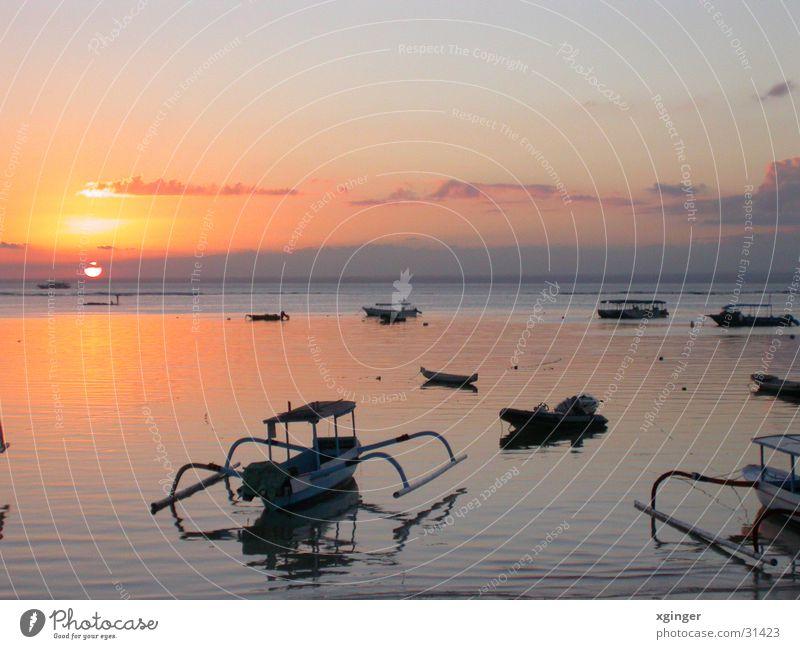 Sunset on Lembongan Ocean Watercraft Bali Lembongan Iceland