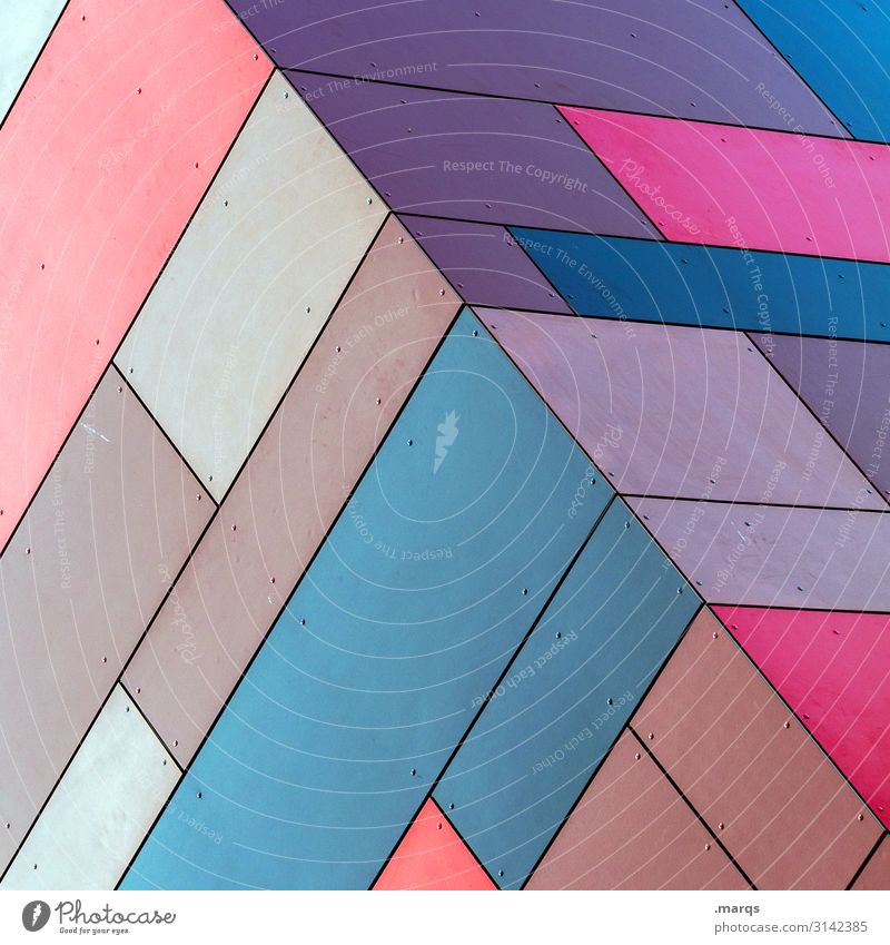 cube Lifestyle Elegant Style Design Facade Exceptional Cool (slang) Sharp-edged Hip & trendy Uniqueness Modern Blue Brown Multicoloured Violet Pink Esthetic