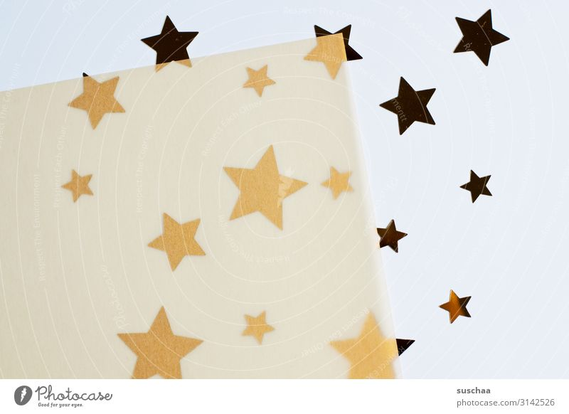 a few more stars .. Star (Symbol) Many Difference Size difference serrated Decoration transparent transparent paper Paper Christmas & Advent Neutral Background