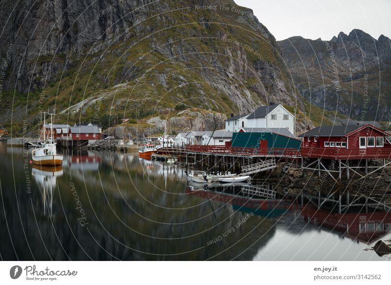 my house, my boat... Vacation & Travel Tourism Trip Adventure Nature Landscape Rock Mountain Fjord Hamnöy Reine Norway Lofotes Scandinavia Fishing village