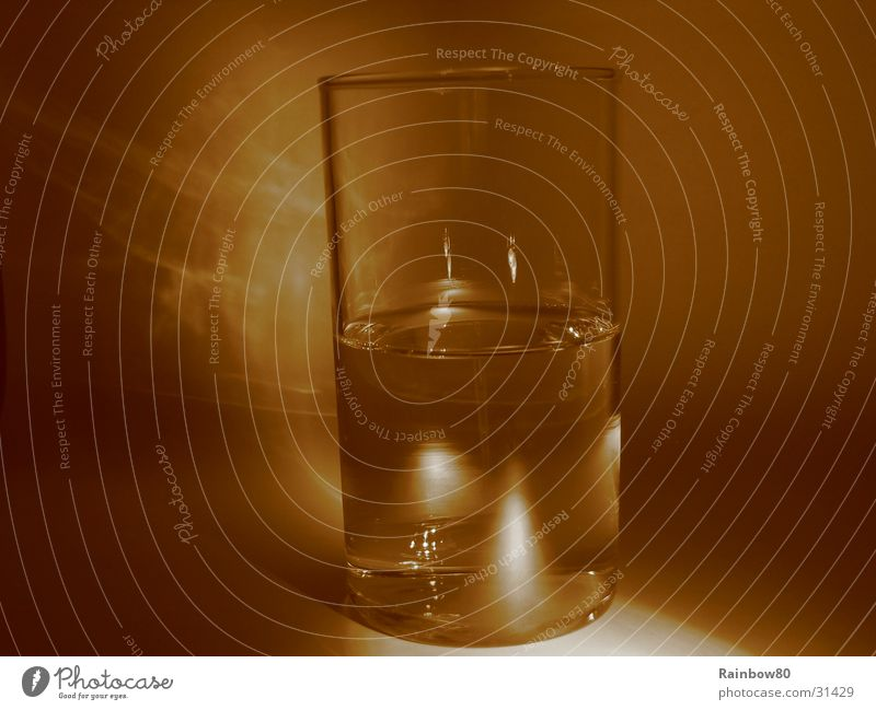 Water glass 2 Tumbler Reflection Living or residing Glass Sepia Light (Natural Phenomenon)