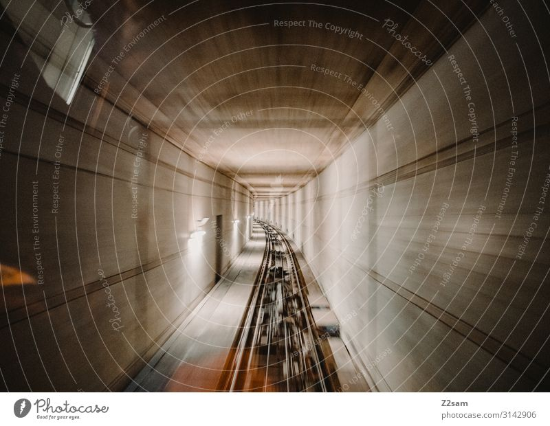 tunnel vision Technology Town Tunnel Tunnel vision Underground Cog railway Rail transport Gondola Means of transport Passenger traffic Passenger train
