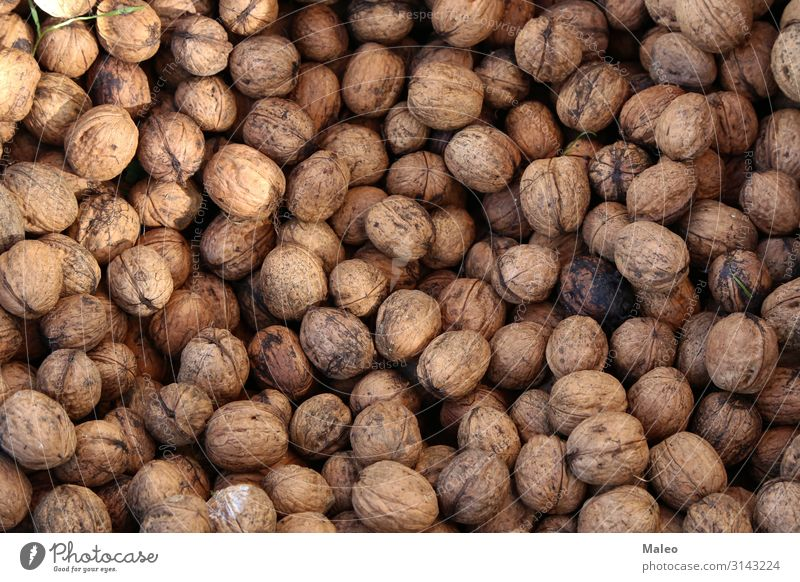 walnuts Abstract Agriculture Autumn Background picture Brown To break (something) Harvest Detail Dry Part Food Fresh Fruit Garden Healthy Healthy Eating Heap