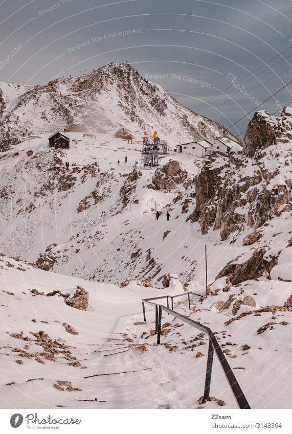 Hafelekar | Innsbruck Vacation & Travel Mountain Hiking Group Environment Nature Landscape Autumn Winter Beautiful weather Rock Alps Peak Snowcapped peak