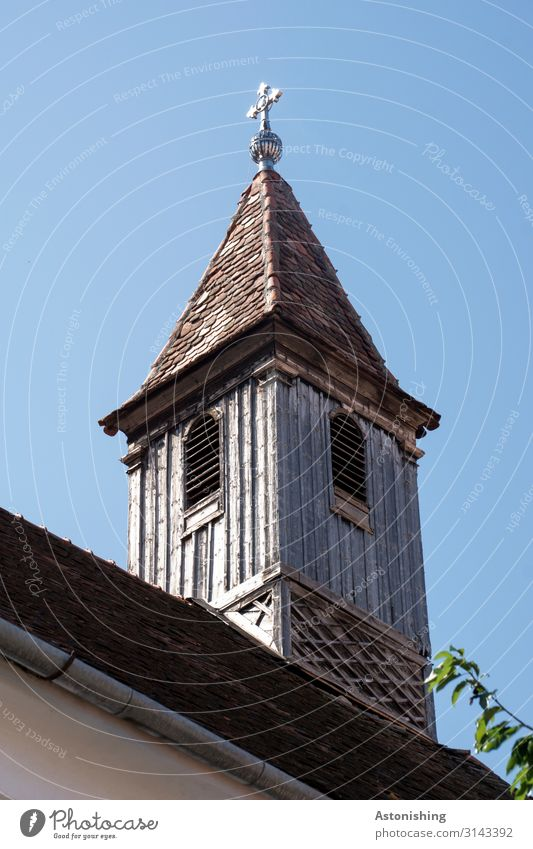Old tower Sky Summer Sibiu Romania Small Town House (Residential Structure) Church Tower Manmade structures Building Wall (barrier) Wall (building) Facade