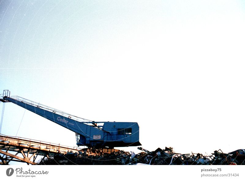 Used metal everywhere Crane Scrap metal Recycling Port Industry Harbour