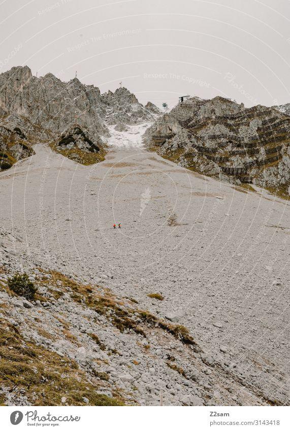 Hafelekar | Innsbruck Sightseeing Nature Landscape Autumn Climate Rock Alps Mountain Threat Gigantic Large Tall Sustainability Natural Loneliness Idyll