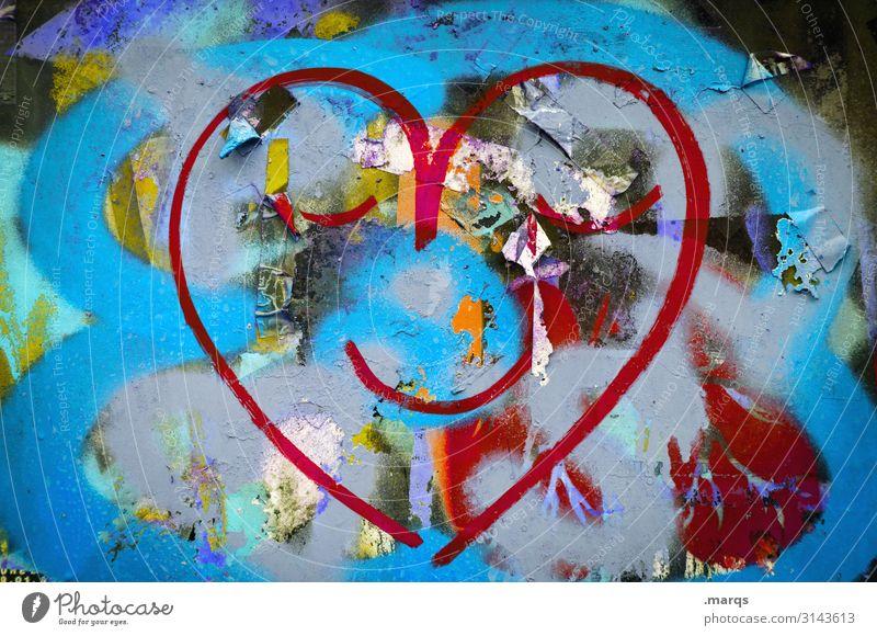 Joy Graffiti Wall (building) Love Emotions Laughter Wall (barrier) Heart To enjoy Positive
