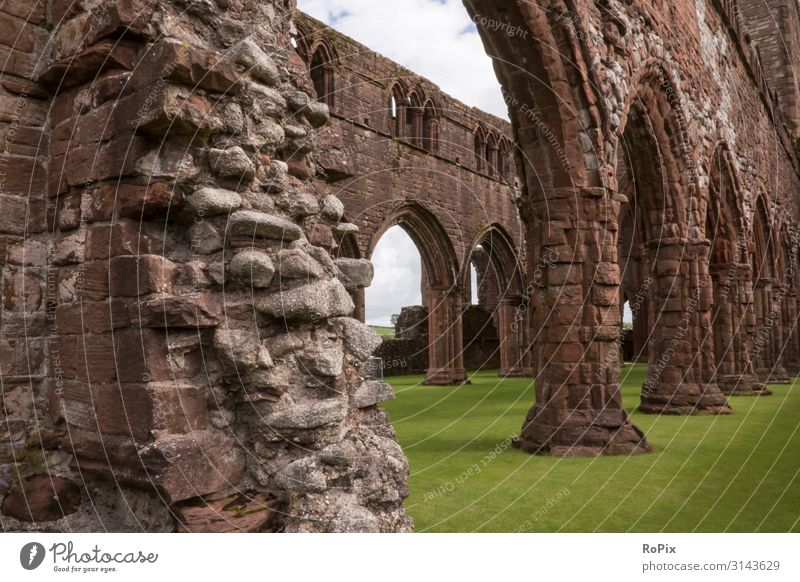 Sweetheart Abbey near Dumfries. abbey Scotland scotland Monastery Church Monastery chruch Ruin Building Architecture Belief sacral sacral building church