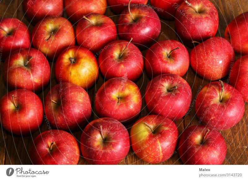 Beautiful red apples lying on the table Red Apple Background picture Table Fruit Nature Food Natural Fresh Concepts &  Topics Concert Organic Raw Delicious