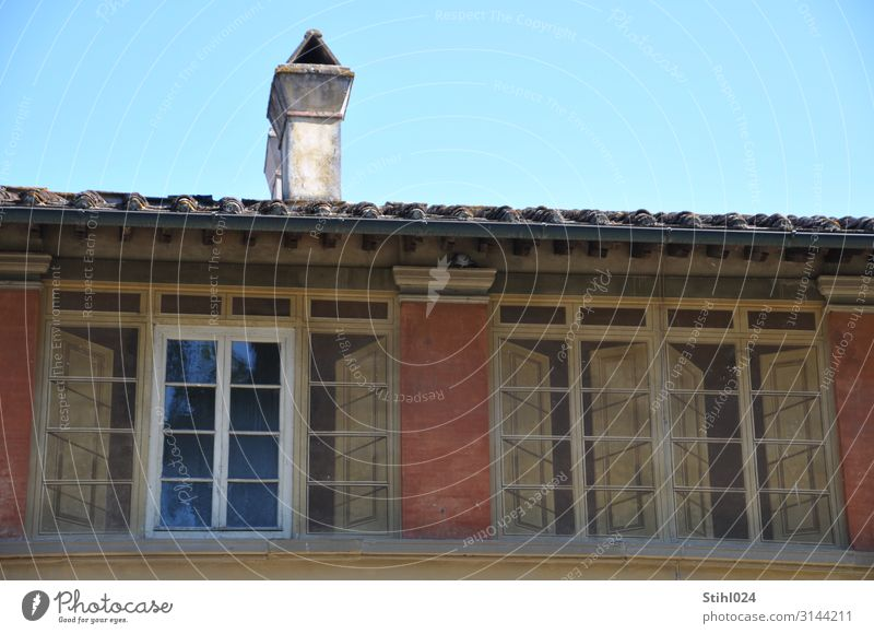 fake window Flat (apartment) House (Residential Structure) Old town Manmade structures Building Architecture Facade Window Chimney Shutter Lattice window