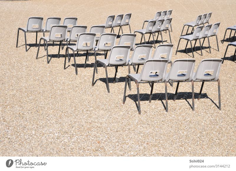 many plastic chairs in the open-air auditorium Leisure and hobbies Trip Entertainment Event Music Going out Feasts & Celebrations Concert Outdoor festival