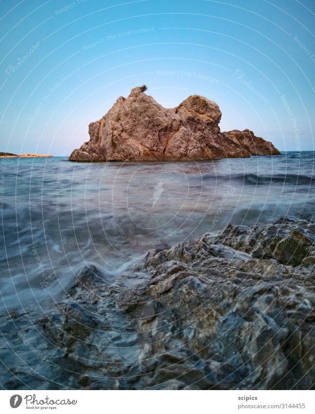 Sky Vacation & Travel Nature Summer Water Landscape Ocean Beach Life Environment Coast Stone Swimming & Bathing Rock Waves Air