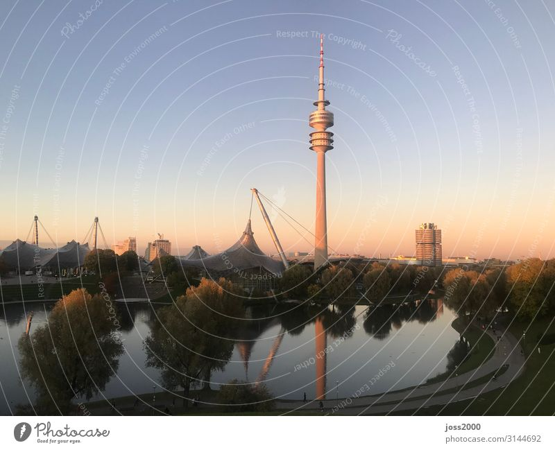 Joie de vivre (Vitality) Tourist Attraction Capital city City trip Munich Olympic Tower Olympic lake