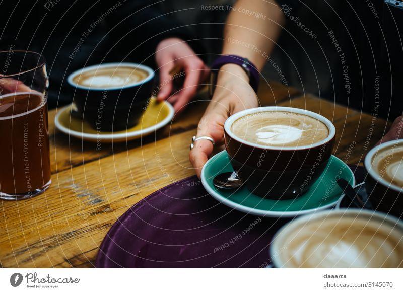 spring coffee II Beverage Drinking Hot drink Hot Chocolate Coffee Latte macchiato Cup Mug Lifestyle Style Joy Harmonious Leisure and hobbies Living or residing
