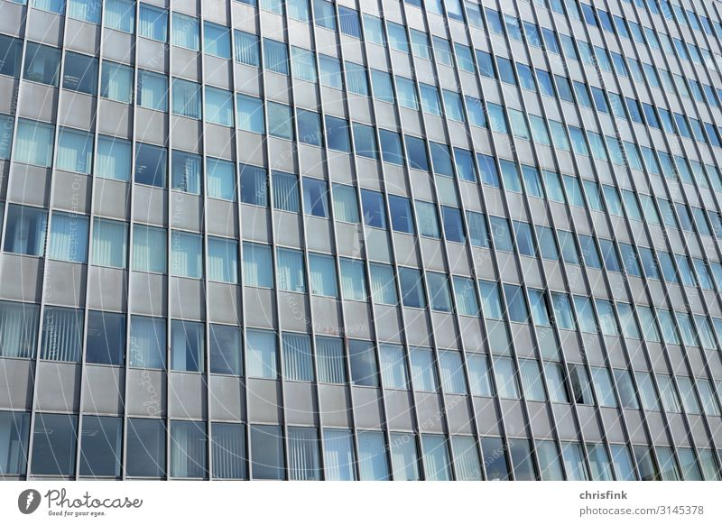 Facade of high-rise building House (Residential Structure) Bank building Industrial plant Tower Window Stone Concrete Glass Metal Work and employment Study