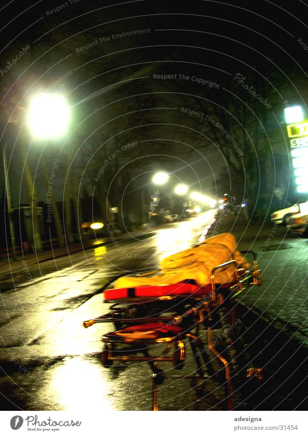 lonesome stretcher Night First Aid Loneliness Doomed Obscure long-range stretcher Street Light RTW