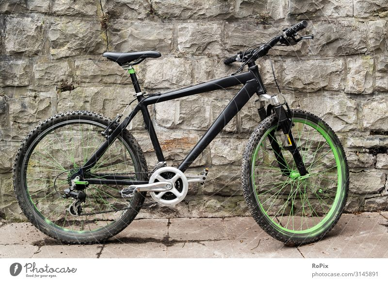 all-terrain bike Bicycle Territory free time recreational sport nature conservation ecology Environmental protection Town urban Bicycle garage Parking area
